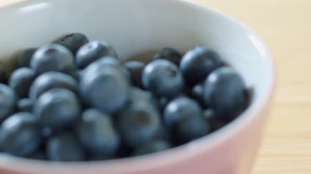 Blueberries lie on a plate.. Sweet juicy berries. Healthy eating.