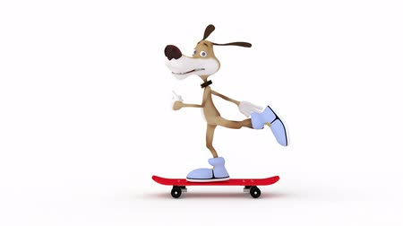 etkinlik : 3d dog on a skateboard.