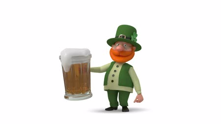Saint Patrick with beer