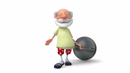 3d pensioner with the weight