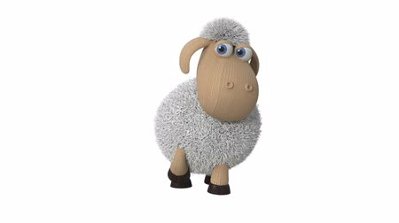3d illustration of funny white sheep  3d illustration of farm animals