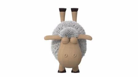 3d animation funny sheep playing sports  3d animation little white sheep gymnastics