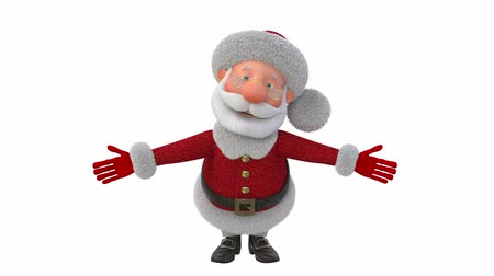 knitted : 3d illustration Jolly Santa Claus  3d illustration Christmas greeting fairy tale characters