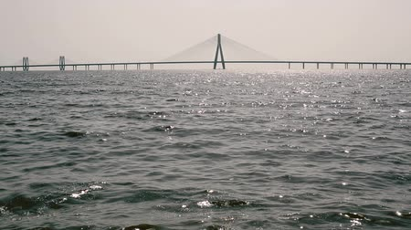 mare : Worli Sea Link Filmati Stock