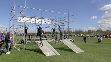 MALMO, SWEDEN - MAY 2 2015 - People are racing the Toughest Obstacle Race (obstacle course racing, or OCR) in Malmo, Sweden in May of 2015.