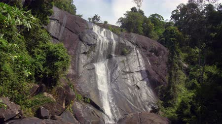 The Seven Wells Waterfall, or Telaga Tujuh, in Langkawi, Malaysia. With natural sound.