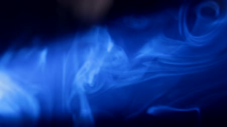 light trails : Mysterious blue smoke