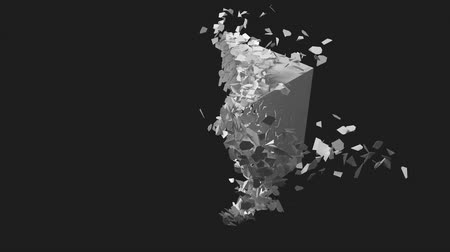 breaking cube. scattering in the wind.