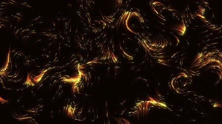orange energy particles moving randomly