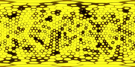 360 degree seamless hexagons view for VR. yellow hexagons with alpha. Стоковые видеозаписи