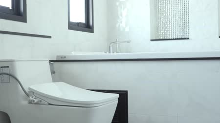 плитка : New view bathroom with toilet sink and shower in home