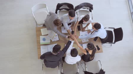 organizer : Top view Business team working at modern office