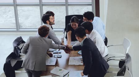 organizer : Business team working at modern office Stock Footage