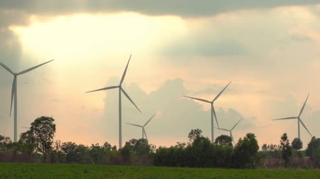 lapát : Wind energy turbines are one of the cleanest, renewable electric energy source Electricity is generated by electric generators location huai bong nakhonratchasima Thailand