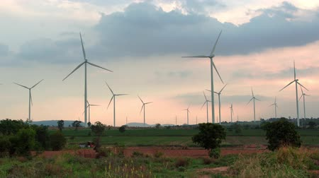 huai : Wind energy turbines are one of the cleanest, renewable electric energy source Electricity is generated by electric generators location huai bong nakhonratchasima Thailand