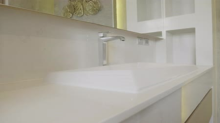 sedes : Modern design home bathroom White sanitary ware in the bathroom. Under construction