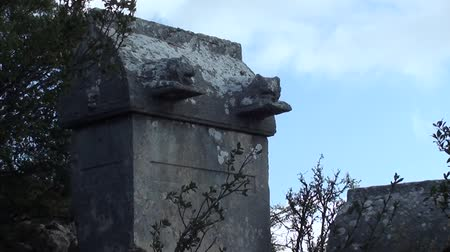 sarcophagus : Lions on a Lycian tomb