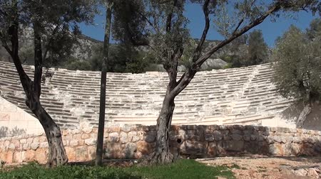 relict : Kas amphitheater close up Stock Footage