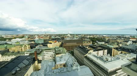nordic countries : Panoramic aerial view of Helsinki city, capital of Finland. Time Lapse. 4K UltraHD video