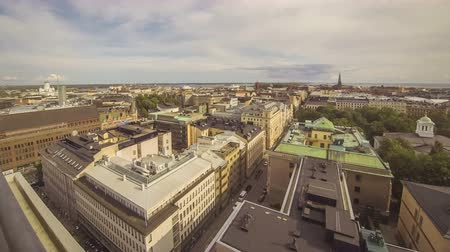 Panoramic aerial view of Helsinki city, capital of Finland. Time Lapse. 4K UltraHD video