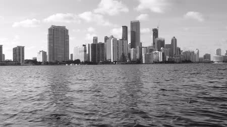 bílé mraky : Downtown Miami Skyline at Sunset in Black and White Dostupné videozáznamy