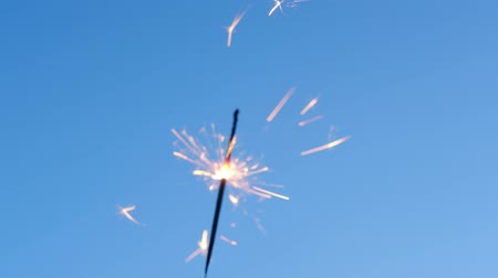 usa independence day : Sparklers Against Blue Sky