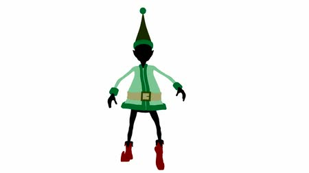 manó : Christmas elf on a white background