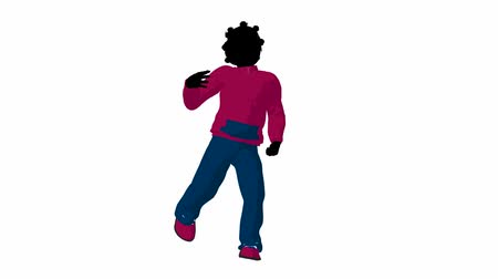 africký : African american teen urban female dressed in casual clothes dancing on a white background