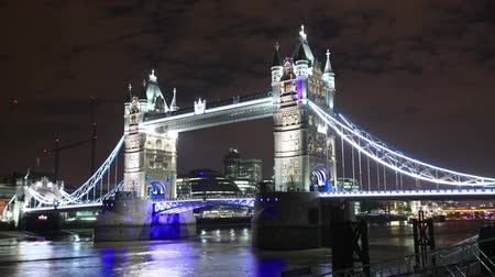 londra : 2K Time Lapse - London Tower Bridge at night