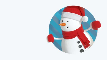 kardan adam : cute 3d snowman Christmas greeting card