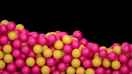 antykoncepcja : 3d render, colored balls falling on black background, macro animation, pharmacy, supplements, beads, toys, candy Wideo