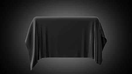deslizamento : 3d animation, black fabric falling down, silky textile cover, cloth disappearing, unveil background, streaming silk, alpha channel