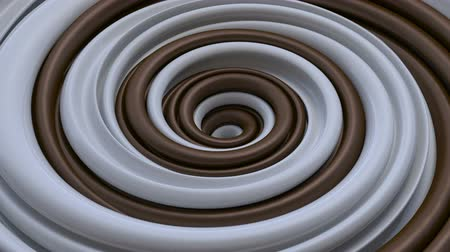 Навидад : chocolate and milk, 3d abstract spinning candy spiral, hypnotic rotation