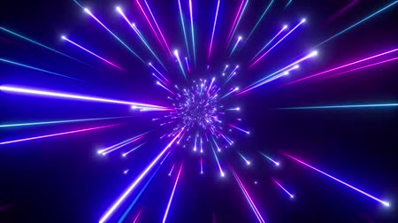 3d render, big bang, galaxy horizon, abstract cosmic background, celestial, beauty of universe, speed of light, fireworks, ultraviolet blue neon glow, stars, cosmos, infrared light, outer space, 4k animation Dostupné videozáznamy