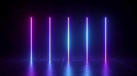 vertical glowing lines, ultraviolet spectrum, pink blue neon lights, laser show, night club, equalizer, abstract fluorescent background, optical illusion, virtual reality Dostupné videozáznamy