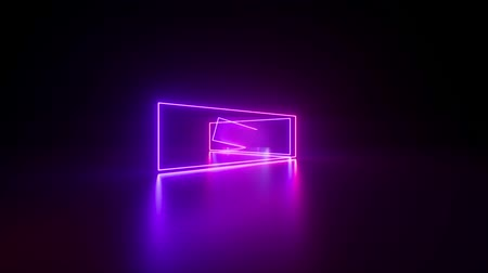 obdélníkový : moving forward endless tunnel, abstract neon background, ultraviolet light, glowing lines, virtual reality interface, frames, hud, pink blue spectrum, laser rays