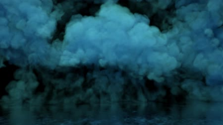 em branco : blue smoke, filling empty space, fog, fume on black background, smoky atmosphere, colorful powder clouds