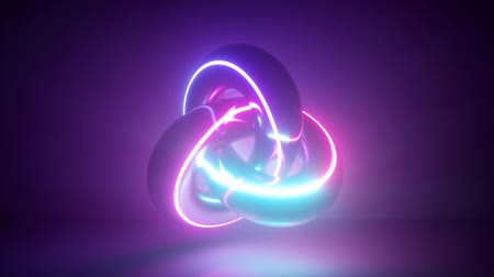 3d render, abstract background, neon light glowing, torus, cosmic knot, laser show, seamless animation, alien weapon technology, esoteric energy, modern fashion shape, ultraviolet spectrum Dostupné videozáznamy