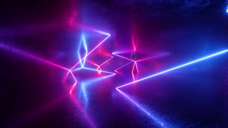 неон : abstract neon background, ultraviolet light, pink blue glowing lines, flight forward inside endless tunnel, looped animation