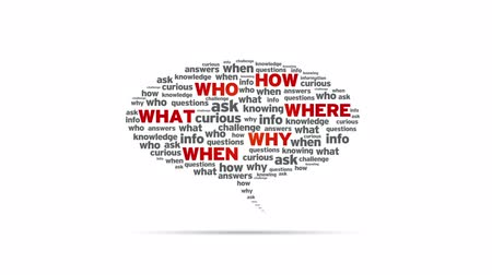 investigar : Who, how, where, what, why, when Speech Bubble