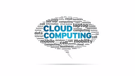 communicatie : Cloud Computing Speech Bubble