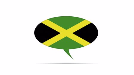 haladás : Jamaica Flag Speech Bubble Stock mozgókép