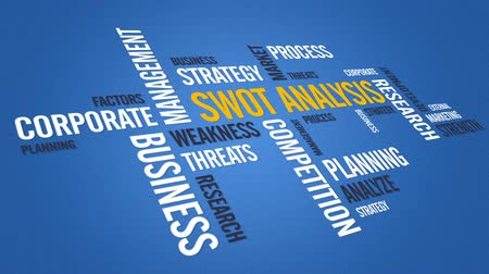 analiz : Swot Analysis Stok Video