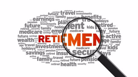para kazanmak : Retirement Stok Video