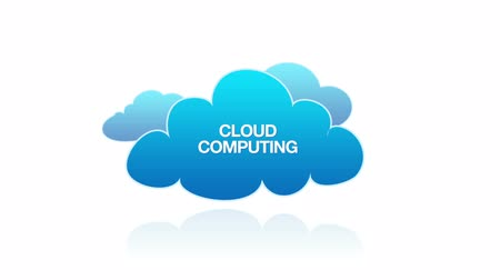 communicatie : Cloud Computing Stockvideo