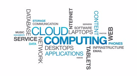 information tecnology : Il Cloud Computing Filmati Stock