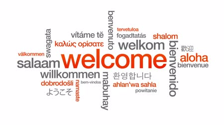 visitante : Welcome Stock Footage