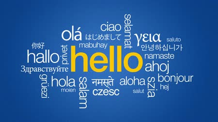 dialect : Hello in different languages Stock Footage