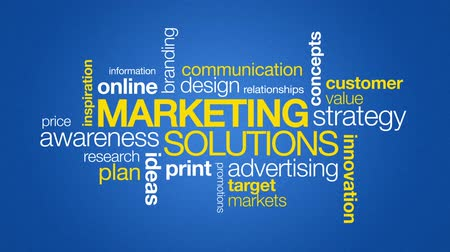 gelişme : Marketing Solutions Stok Video