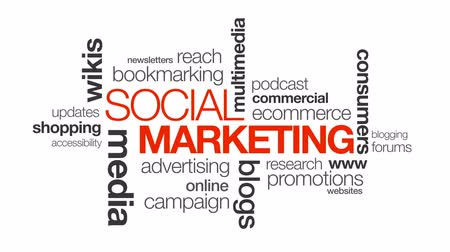 Sociale Marketing Stockvideo